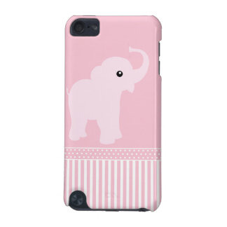 Elephant baby cute pink stripes ipod touch 4G case