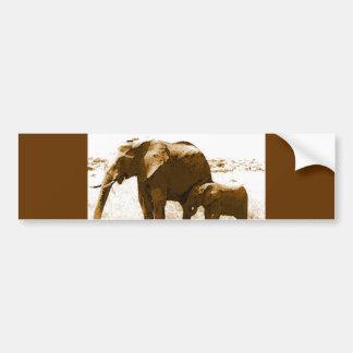 Elephant & Baby Elephant Bumper Sticker