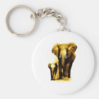 Elephant & Baby Elephant Keychain