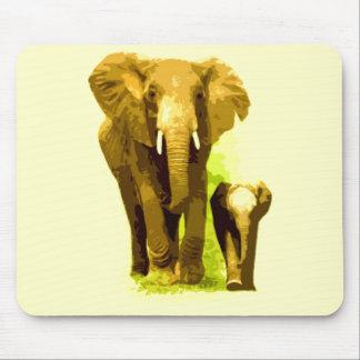 Elephant & Baby Elephant Mouse Pad