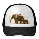 Elephant & Baby Elephant Trucker Hat