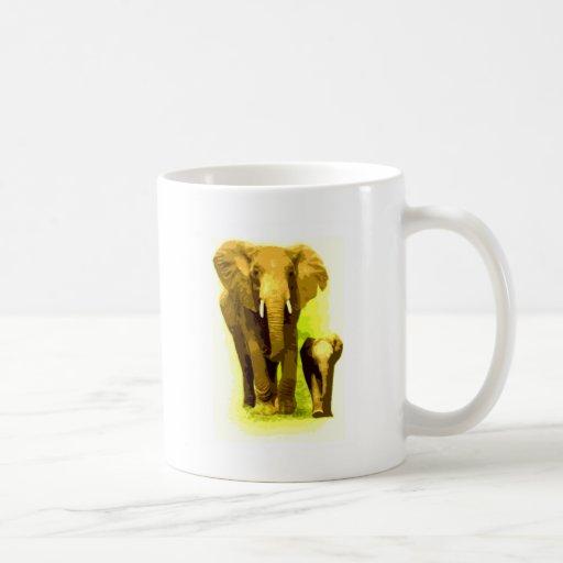 Elephant & Baby Elephant Walking Coffee Mug