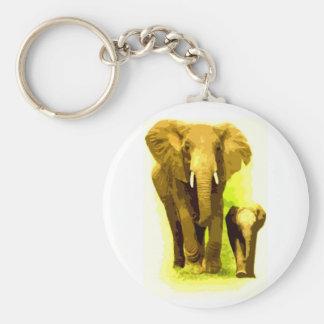 Elephant & Baby Elephant Walking Keychain