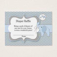 Elephant Baby Raffle Chevron Print Business Card at Zazzle