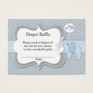 Elephant Baby Raffle Chevron Print Business Card