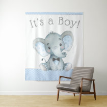 Elephant Baby Shower Backdrop