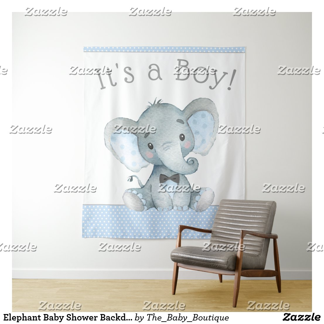 Elephant Baby Shower Backdrop