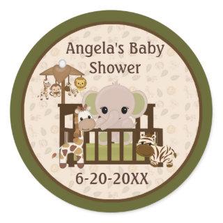 Elephant Baby Shower blank labels/seals NALI #01 Sticker