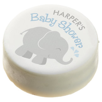 Elephant Baby Shower   Blue and Gray Chocolate Covered Oreo