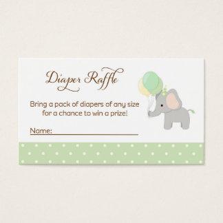 Elephant Baby Shower Diaper Raffle Tickets
