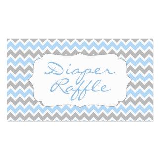 Elephant Baby Shower diaper raffle tickets blue Business Card