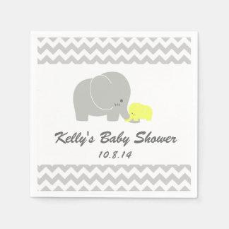 Elephant Baby Shower Disposable Napkin Paper Napkins