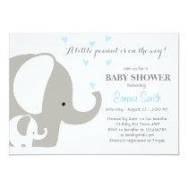 Elephant Baby Shower Elephant invitation Baby boy