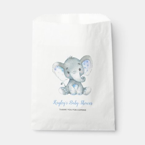 Elephant Baby Shower Favor Bags Boys Personalized