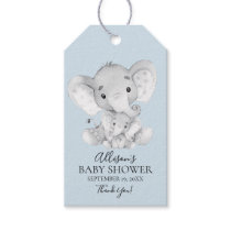 Elephant Baby Shower Favor Gift Tag