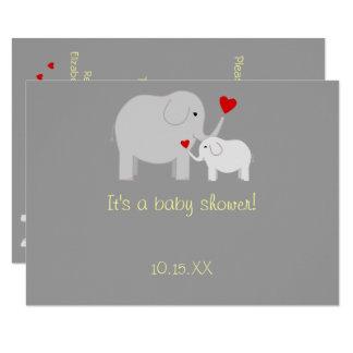 Elephant Baby Shower Gender Neutral Invitation