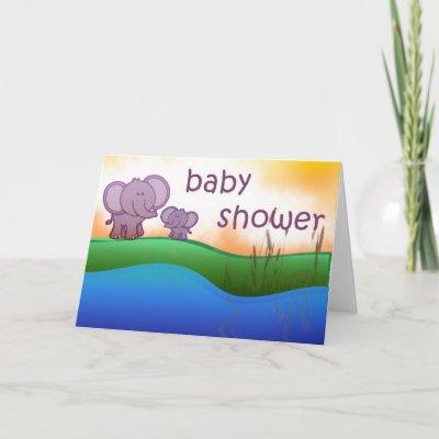 Elephant baby shower invitation cards by aslentz