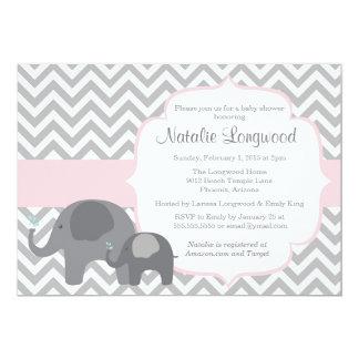 pink chevron baby shower invitations announcements zazzle