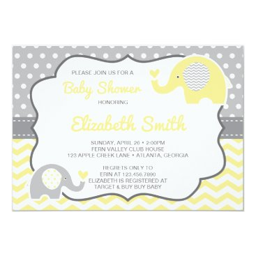 Toddler & Baby themed Elephant Baby Shower Invitation, EDITABLE COLOR Card