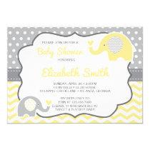 Elephant Baby Shower Invitation, EDITABLE COLOR Invitation