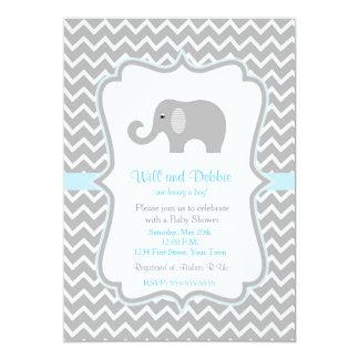 baby boy elephant invitations announcements zazzle