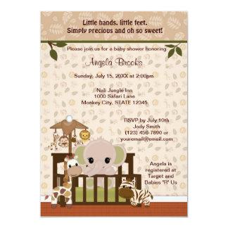 ELEPHANT Baby Shower Invitation Nali Jungle NJE
