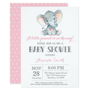 Pink Elephant Invitations Zazzle