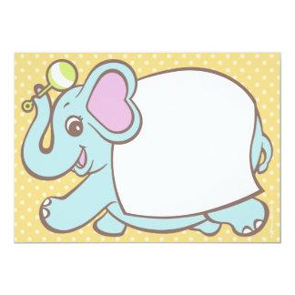 "Elephant Baby Shower Invitations 5"" X 7"" Invitation Card"