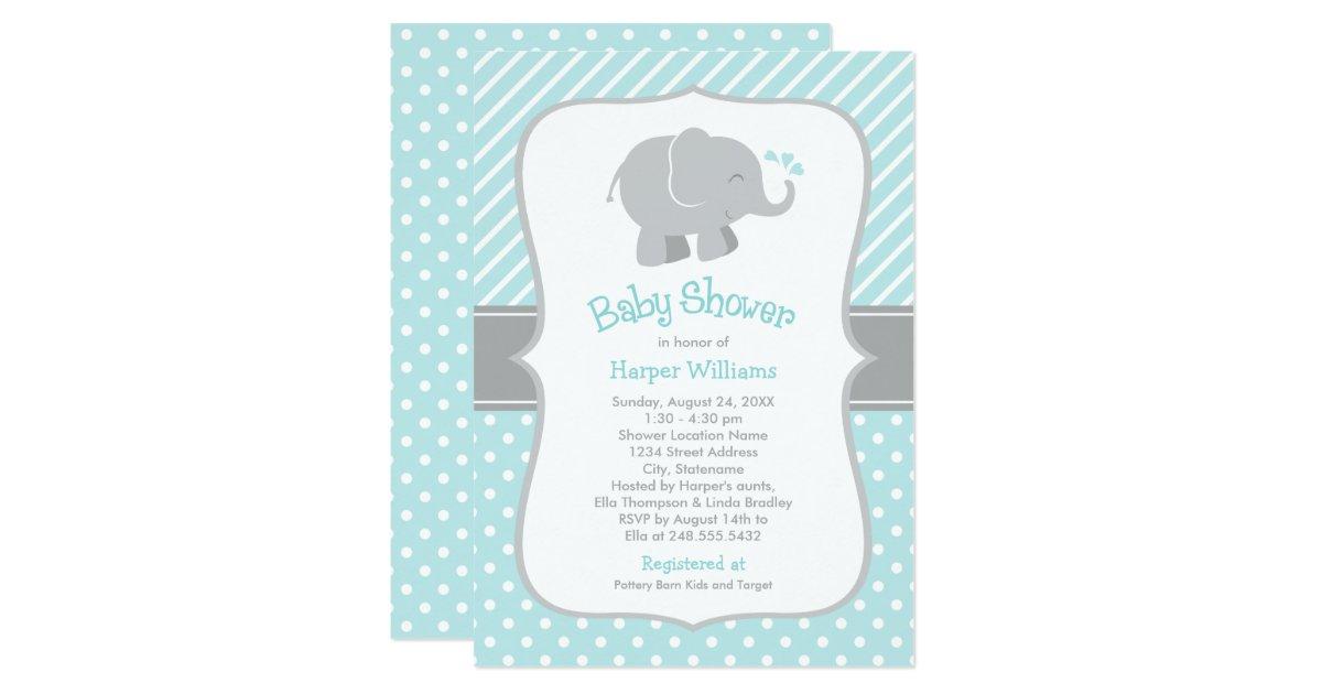 Baby Elephant Baby Shower Invitations – diabetesmang.info