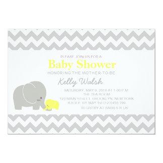 Elephant Baby Shower Invitations Chevron Invitation