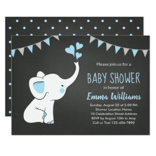 Baby elephant invitations zazzle elephant baby shower invitations for a boy filmwisefo