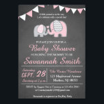 "Elephant Baby Shower Invitations for a Girl<br><div class=""desc"">Elephant baby shower invitations for a girl!</div>"