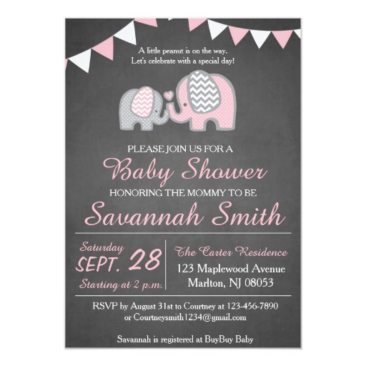 Baby shower invitations ideas for a girl
