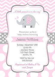 Elephant baby shower invitations zazzle elephant baby shower invitations for girl filmwisefo Images