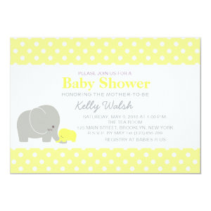 Elephant baby shower invitations cute baby shower invitations elephant baby shower invitations yellow and gray 5 filmwisefo