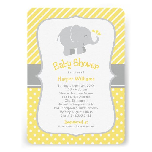 Yellow And Gray Baby Shower Invitations correctly perfect ideas for your invitation layout