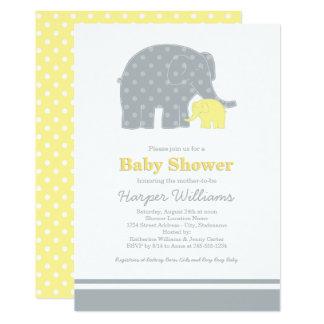 Elephant Baby Shower Invitations | Yellow & Gray