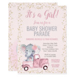 Elephant Baby Shower Parade Invitation