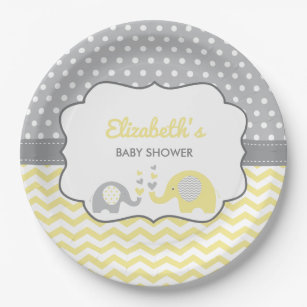 Elephant Baby Shower Plate EDITABLE COLOR Paper Plate  sc 1 st  Zazzle & Elephant Plates | Zazzle