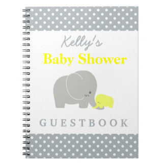 Elephant Baby Shower Polka Dot Custom Guest Book
