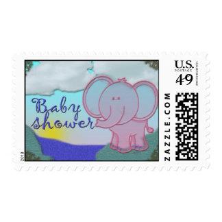 Elephant baby shower postage