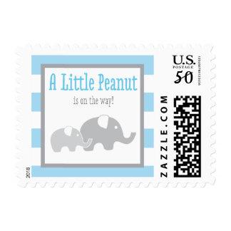 Elephant Baby Shower Postage, Blue Little Peanut Postage