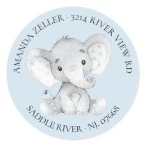 Elephant Baby Shower Return Address Label
