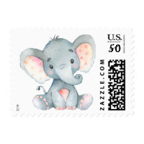 Elephant, Baby Shower Stamp