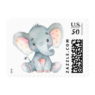 Elephant, Baby Shower Stamp