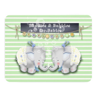 Elephant Baby Shower Thank you card