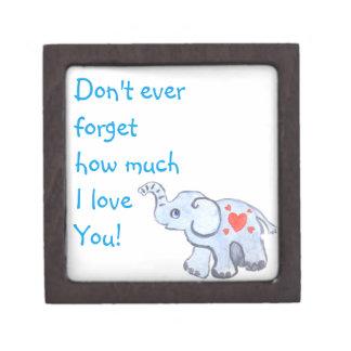 elephant baby with hearts jewelry box