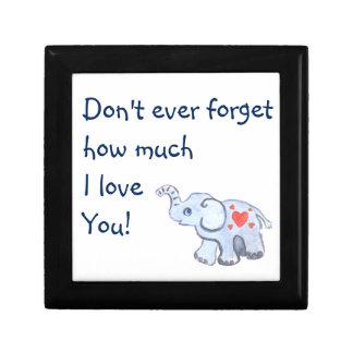 elephant baby with hearts keepsake box