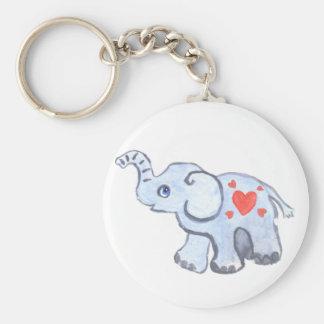 elephant baby with hearts keychain