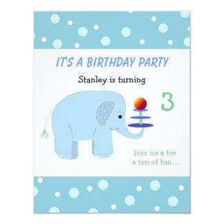 Elephant Balancing Act Birthday Invitation